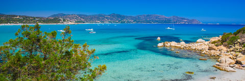 Porto Giunco beach, Villasimius, Sardinia, Italy. Royalty Free Stock Photo