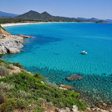 Porto Giunco, Villasimius, in Sardinia, Italy Stock Images