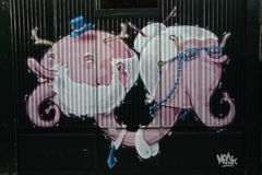 Porto Graffiti stock photos