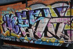 Porto Graffiti royalty free stock photography