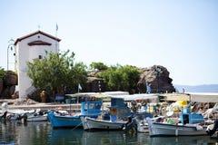 Porto grego Fotos de Stock Royalty Free