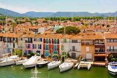 Porto Grimaud, França foto de stock