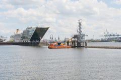 Porto Hamburgo de Doclands, Alemanha Imagens de Stock Royalty Free