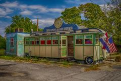 Porto Henry Diner no porto Henry, NY foto de stock