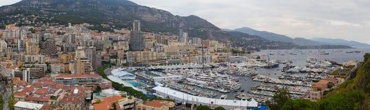 Porto Hercule do panorama, Mônaco, Monte - Carlo fotos de stock royalty free