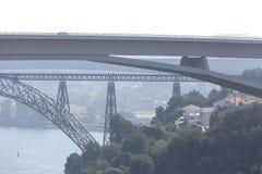 Porto historic city bridges in portugal. Europe stock photo