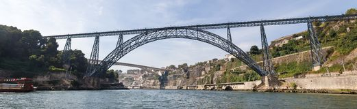 Porto historic city bridges in portugal. Panoramic view stock photo