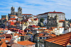 Porto historical centre. Magic view from viewpoint Royalty Free Stock Photos