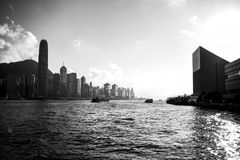 Porto Hong Kong de Victoria Fotos de Stock