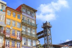 Porto huizen Royalty-vrije Stock Foto's