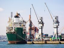 Porto industrial foto de stock
