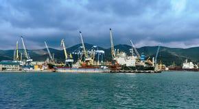 Porto industrial Foto de Stock Royalty Free