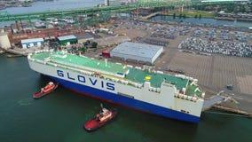 Porto industrial Boston do navio vídeos de arquivo
