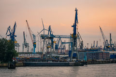 Porto industriale Fotografia Stock Libera da Diritti