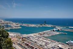 Porto industriale della Spagna Fotografia Stock