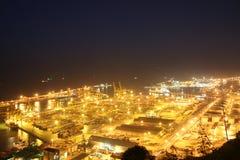 Porto industriale di Barcellona Fotografia Stock Libera da Diritti