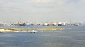 Porto industriale sulla costa della Tunisia Immagini Stock Libere da Diritti