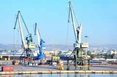 Porto industriale in Volos, Grecia Fotografie Stock Libere da Diritti