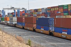 Porto interno de Carolina Ports Authority sul fotos de stock royalty free