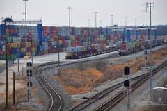 Porto interno de Carolina Ports Authority sul fotos de stock