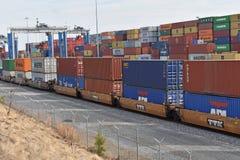 Porto interno di Carolina Ports Authority del sud fotografie stock libere da diritti