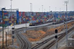 Porto interno di Carolina Ports Authority del sud fotografie stock