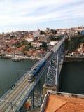 Porto iron bridge. With train Stock Photos