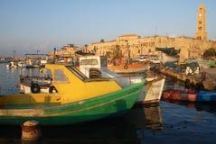 Porto Israele di San Giovanni d'Acri Akko Fotografie Stock Libere da Diritti