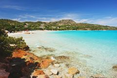 Porto Istana Beach, Sardinia Royalty Free Stock Photos