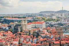 Porto-Kathedrale (Se tun Porto) Alte Stadt Porto wird wie registriert Lizenzfreies Stockbild