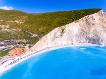 Porto Katiski beach in Lefkada Island, Greece, main tourist attr Royalty Free Stock Image