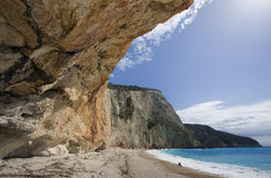 Porto katsiki beach Royalty Free Stock Photography