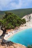 Porto Katsiki beach. View over Porto Katsiki beach in Lefkas island Greece stock photography