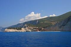 Porto Katsiki beach. On the Ionian island of Lefkas Greece royalty free stock photography