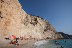 Porto Katsiki beach. Beuatiful beach Porto Katsiki on the west coast of Greek island Lefkada Royalty Free Stock Photography
