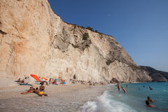 Porto Katsiki beach. Beuatiful beach Porto Katsiki on the west coast of Greek island Lefkada Stock Photography