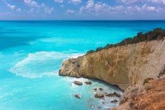 Porto Katsiki. Beach on the Ionian island of Lefkas Greece royalty free stock photography