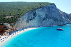 Porto Katsiki Beach on the island of Lefkada Stock Photos