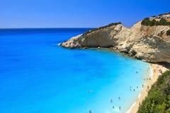 Porto Katsiki beach in Lefkada, Greece. The beautiful Porto Katsiki beach in Lefkada, Greece Stock Photo