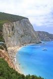 Porto Katsiki beach in Lefkada, Greece. The beautiful Porto Katsiki beach in Lefkada, Greece Stock Photos