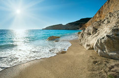Porto Katsiki beach (Lefkada, Greece) Royalty Free Stock Images