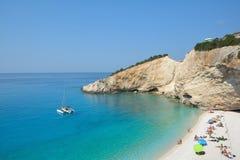 Porto Katsiki beach. Lefkada, Greece stock image