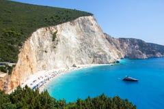 Porto Katsiki beach in Lefkada, Greece Stock Image