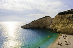 Porto katsiki beach in lefkada, Greece Stock Images