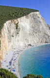 Porto Katsiki Beach; Lefkada, Greece stock images