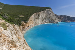 Porto Katsiki Beach, Lefkada, Ionian Islands Royalty Free Stock Photos