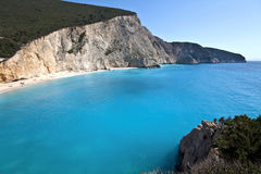 Porto Katsiki beach at Lefkada island Stock Photo