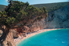 Porto Katsiki beach at Lefkada island Stock Images