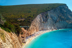 Porto Katsiki beach at Lefkada island Royalty Free Stock Image