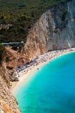 Porto Katsiki beach at Lefkada island Stock Photos